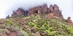 77MP Pano of Superstition Mountains (brianbaril_photography) Tags: superstition mountains cactus fog low clouds arizona apache junction lost dutchman state park usa desert az brianbaril beautiful vacation d800 nikon nikkor landscape mountain nature photography photo rock sky cloudy travel pano