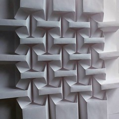 Serif Repeat paper fold - corrugation from one sheet no cuts