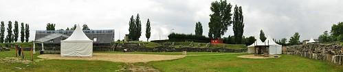 Roman military amphitheater in Carnuntum