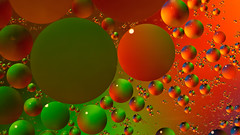 blob attack (cherryspicks (on/off)) Tags: macro oil water colorful droplet blob bright sphere geometry
