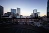 Sunset Time (hidesax) Tags: sunsettime tokyostation jr sunset cityscape sky buildings marunouchi chiyodaku tokyo japan hidesax sony a7ii voigtlander 10mm f56 trimmed