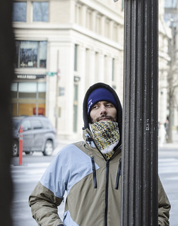 Abe Velazquez Observes an Anti-Tear-Gas Demonstration Outside the U.S. Department of Justice