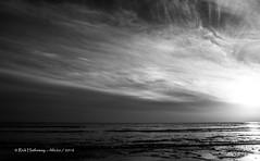 Low winter sun (rhfo2o - rick hathaway photography) Tags: rhfo2o canon canoneos7d elmer elmersands bognorregis bognor westsussex beach sea seaside horizon waves clouds sun bw blackandwhite mono