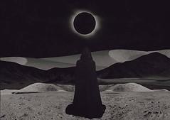 """The Dark Wanderer."" (thomaschrome) Tags: dark wanderer dystopia dystopian eclipse desert robe black"