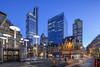 London Liverpool Street (david.bank (www.david-bank.com)) Tags: london england uk liverpoolstreet dusk bluehour herontower gherkin tower42