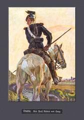 Ulan (zimmermann8821) Tags: deutscheskaiserreich deutschesreich gemäldereproduktion illustration kavallerist soldat uniform lanze pferd ausritt landschaft morgenrot beobachter aufklärer patrouille