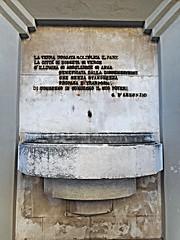 Fountain (1930-1932) with Gabriele D'Annunzio's poetry - Classical Liceo Giambattista Vico in Naples (Carlo Raso) Tags: fountain gabrieledannunzio poetry literature naples italy liceogiambattistavico