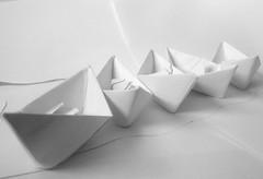 A4 (esala.kaluperuma) Tags: justwhitepaper macromondays art boats paper white artistic abstract kunst τέχνη arte изобразительноеискусство résumé αφηρημένο zusammenfassung аннотация abstrakt photograph macro bandw blackandwhite story