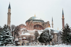 Snowy Hagia Sophia (MrJSparks) Tags: xt1 building winter church ayasofya istanbul fujifilm cold ottoman mosque hagiasophia blizzard sultanahmet byzantine snow snowday architecture winterscene eminonu hagiasofia turkey white