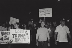 #NotMyPresident Protest (diehesh) Tags: analog bw black white 400 iso 400iso