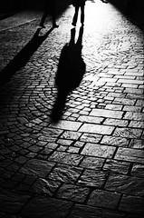 Dancing shadows (Claudio Taras) Tags: claudio contrasto controluce canona1 35mmfilm 50mm trier trix400 rodinal film monocromo monochrom bw biancoenero black people persone city dark taras