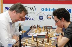 Nigel Short v Fabiano Caruana (Johnchess) Tags: 29january2017 round6 tradewisegibraltarmasters