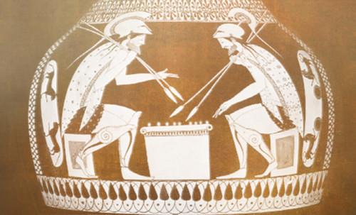 "Petteia - Ludus Latrunculorum  / Iconografía de las civilizaciones helenolatinas • <a style=""font-size:0.8em;"" href=""http://www.flickr.com/photos/30735181@N00/32522192885/"" target=""_blank"">View on Flickr</a>"