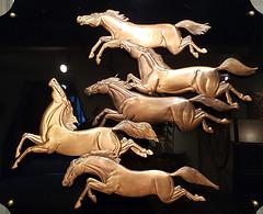 Cinq Chevaux de Cuivre - Copper Horses (subarcticmike) Tags: art copper embossed enamelled albertgillis studio museum familytradition subarcticmike loris bus tour bustour travel quebec horses chevaux cuivre geotagged sixwordstory 6ws cupriferous