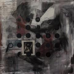 applying raster to reality (Kaja Utkowska) Tags: painting collage raster reality apply circles trasparent composition oilpaint mixedmedia