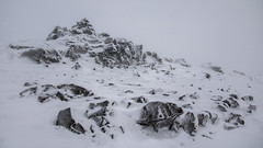 Sketch of a Fell Top (johnkaysleftleg) Tags: dovecrag lakedistrict sketch cumbria england cairn winter snow mist fog wainwrights alfredwainwright canon760d sigmaaf1770mmf2845dcmacro