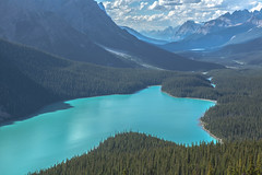 Peyto Lake (Marshall Winterbach) Tags: landscapebeauty forest clouds goldenclouds peytolake