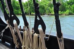 Secured (pjpink) Tags: river james virginia spring sailing ship may vessel richmond replica nina rva jamesriver pinta 2015 rockettslanding pjpink