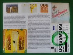 """Exhibitions at Secession: Strau: a Turtle Dreaming, Oppenheim: Echo, Klimt: Beethoven Frieze - SecESSion Eissalon Schwedenplatz - """"an apple a day keeps the doctor away - An ENSO (Japanese: circle, kreis) a Day ..."""" 31. Mai 2015"""