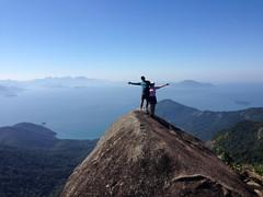 Pico do Papagaio (Micheline Fontana) Tags: love brasil trekking island rj amor peak pico summit ilhagrande ig cume