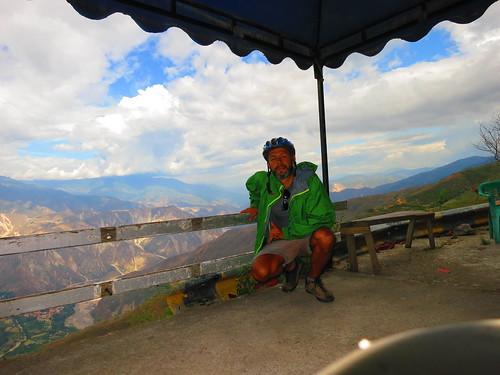 Mirador en el cañon de Chicamocha