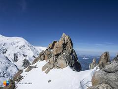 A look back (HendrikMorkel) Tags: mountains alps mountaineering chamonix alpineclimbing arêtedescosmiques arcteryxalpineacademy2015