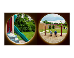 (t-nary) Tags: girls summer white playground digital circle diptych circles swings samsung slide double holes vision galaxy frame swingset framing s5 samsunggalaxy snapchat