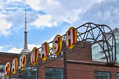 Car Wash (fueltheevolution) Tags: street city sky toronto sign clouds downtown cntower ad streetphotography advertisement