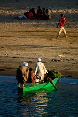 Life on Nile River (Egypt) (PaulHoo) Tags: life africa people sun water river evening boat nikon egypt nile 2008 lightroom