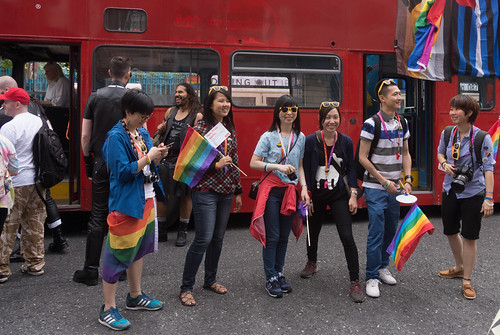 DUBLIN 2015 LGBTQ PRIDE FESTIVAL [PREPARING FOR THE PARADE] REF-106228