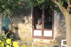 ....la vita che scorre... (anilaamataj) Tags: casa finestra albero giardino signora anziana