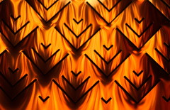 Ikea Inferno (D.H. Parks) Tags: orange abstract reflection ikea fire pattern furniture repetition lampshade nikond5100
