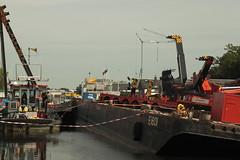 kraancrash Julianabrug-7298 (leoval283) Tags: bridge crash cranes pontoons ponton alphenaandenrijn alphen julianabrug hijskranen brugdek