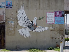 Grafitti art made by Banksy, Bethlehem!