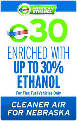 E30- a blend of 30% American Ethanol