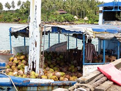 Coconut boat on Koh Kood (ashabot) Tags: