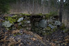 Brostugan, Mörby Jordkällare #2-1 (George The Photographer) Tags: mörby brostugan jordkällare dokumentera torplämning stenmur sten mossa höst skog abandoned övergiven öppning dörr natur skjul skogstorp stenblock grundmur lövsly sweden se
