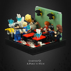 Harry Potter and the Deathly Hallows 05 – Café Shootout (Umm, Who?) Tags: lego harry potter deathly hallows jk rowling warner brothers ron hermione britain magic chapter 9 place hide dolohov raoul noodles petrificus totalus
