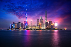 Shanghai city skyline (Patrick Foto ;)) Tags: architecture asia attraction beautiful building business central china chinese city cityscape copyspace district downtown dusk evening famous finance financial highrise huangpu landmark light lujiazui metropolis modern morning night office oriental panorama pearl pudong reflection river scene shanghai sky skyline skyscraper tall tourism tower travel twilight urban view water waterfront shanghaishi cn