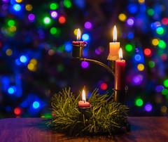 It's almost Christmas (LostOne1000) Tags: candles bokeh adventwreath pentax lowcandles pixelshift almostgone burnedout advent ornaments christmas pentaxk3ii light pentaxhdfa2470sdmwr