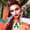 Moondance Boutique -Diana Full Jewelry set (daneensands) Tags: people outdoor secondlife jewerly