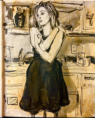 Drawing from my previous video (Dorian Vallejo) Tags: art fine drawing figure mixed media drawings oil painting dorian vallejo