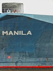ship hull abstracts - manila (dan.boss) Tags: port manila ship hamburg harbour abstact shiphull
