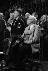 """Faces in the Crowd"" - # 612 (photo_secessionist) Tags: veteran war ww2 19411945 pentax km pentaxdaf35561855mmallens digital blackwhite bn bw virginia richmond rva navy usnavy sailor dd612 usskendrick commemoration 75thanniversary explored"