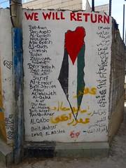 Graffiti in kamp Aida