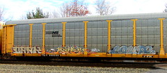 dark - mines - coupe (timetomakethepasta) Tags: dark mines coupe ra fst freight train graffiti art autorack ns norfolk southern ttx