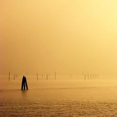 Fading in the mist (alex.gb) Tags: fadinginthemist fading mist fog sea bricola seagull impressionsexpressions clickcamera italians