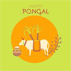free vector Happy Pongal Day With Cow & Rice Pot Background (cgvector) Tags: agriculture animal asian barley cane card cattle celebration coe cow culture decoration earthen editable ethnic family farm farmer festival flower food fruit grain greeting happy harvest hindu holiday illustration indian kalash kollam makar plant pongal pongalday pot prosperity rangoli religious rice sankranti south sugarcane sun tradition traditional vacation vector wheat