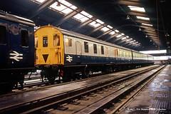 c.1979 - St Leonards (SE) TMD, Hastings, Sussex. (53A Models) Tags: britishrail class205 3h demu 1111 diesel passenger stleonards se tmd hastings sussex train railway locomotive railroad