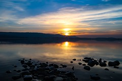 Let me sink into your blue eyes (yarin.asanth) Tags: evening winter blue orange surface sunset sundown yarinasanth gerdkozik bodensee radolfzell mettnau constance february lake